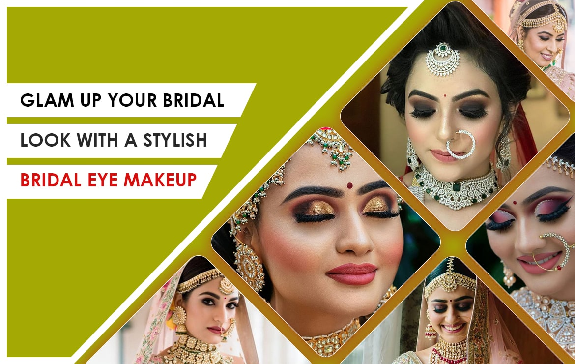 Glam up your bridal look with stylish bridal eye makeup!