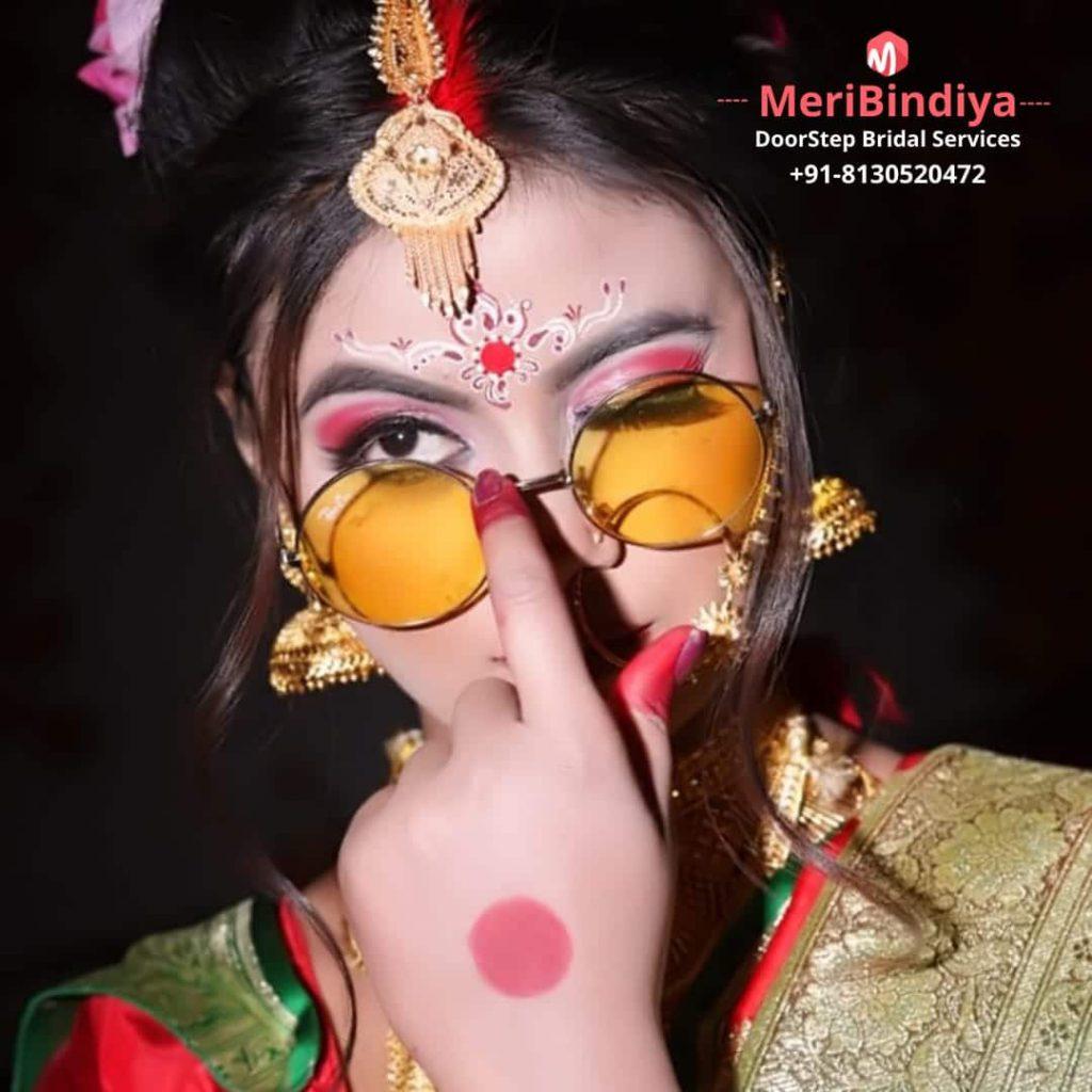 Bengali Bridal Makeup Done by Meribindiya Team